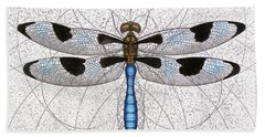Twelve Spotted Skimmer Beach Towel
