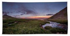 Beach Sheet featuring the photograph Twilight Alpine Stream by Chris Bordeleau