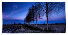 Twilight And Trees Beach Towel