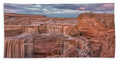 Beach Towel featuring the photograph Twilight At Chocolate Falls by Tom Kelly