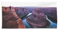 Twilight At Horseshoe Bend Beach Towel by JR Photography