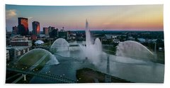 Twilight At The Fountains Beach Towel