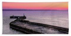 Twilight, Burghead Harbour Beach Towel