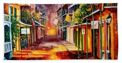 Twilight In New Orleans Beach Towel