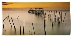 Beach Towel featuring the photograph Twilight by Jorge Maia