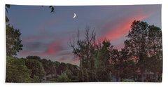 Twilight Moonrise Beach Towel