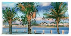 Twilight On Saw Fish Bay Beach Towel