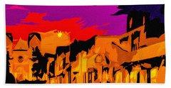 Twilight On The Plaza Santa Fe Beach Sheet