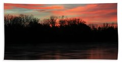 Beach Towel featuring the photograph Twilight On The River by Chris Berry