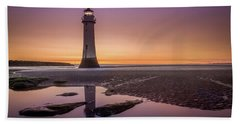 Twilight Reflection, New Brighton Lighthouse Beach Sheet