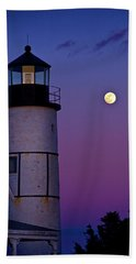 Twilight At Sandy Neck Lighthouse Beach Towel
