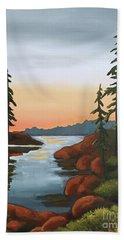 Twilight Sunset Beach Towel