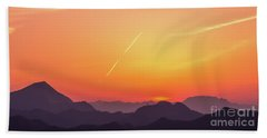 Beach Towel featuring the photograph Twilight by Tatsuya Atarashi