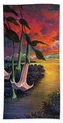 Twilight Trumpets Beach Towel