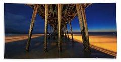 Twilight Under The Imperial Beach Pier San Diego California Beach Towel