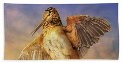 Twilight Woodcock Rising Beach Towel by R christopher Vest