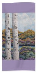 Twin Aspens Beach Towel
