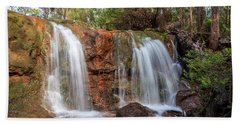 Twin Falls At Ironstone Gully Beach Towel