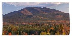 Twin Mountain Autumn Sunset Beach Sheet