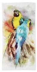 Twin Parrots Beach Towel by Greg Collins