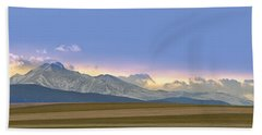Twin Peaks Panorama View From The Agriculture Plains Beach Towel