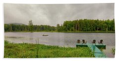 Beach Towel featuring the photograph Twin Ponds Landscape by David Patterson