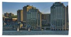 Twin Purdy Towers Of Halifax Beach Towel by Ken Morris