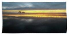 Twin Rocks Sunset Sliver Beach Towel