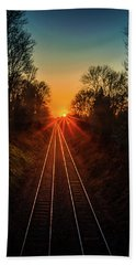 Beach Towel featuring the photograph Twin Tracks by Nick Bywater