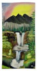 Twin Waterfalls Beach Towel