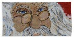 Twinkle In His Eye - Santa Beach Towel