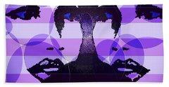 Twins In Purple Beach Sheet