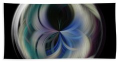 Beach Towel featuring the photograph Twirl Line Orb by Judy Wolinsky