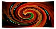 Twirl Rainbow Beach Towel