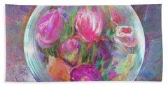 Twirling In Tulips Beach Sheet