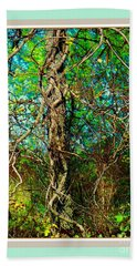 Twisted Branches Beach Towel by Shirley Moravec