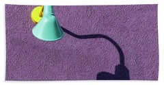 Beach Towel featuring the photograph Twisted Lamp And Shadow by Gary Slawsky