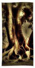 Beach Towel featuring the photograph Twisted Trees by Tom Prendergast
