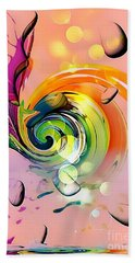 Beach Towel featuring the digital art Twister Light By Nico Bielow by Nico Bielow