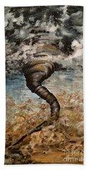 Twister On The Colorado Plains Beach Sheet