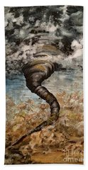 Twister On The Colorado Plains Beach Towel