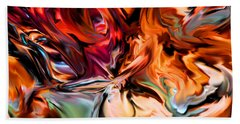 Twisting Fire Beach Towel