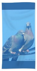 Two Birds In Spring Beach Towel