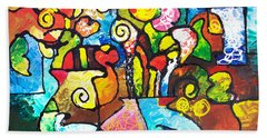 Two Bouquets Beach Towel