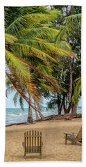 Two Chairs In Belize Beach Towel