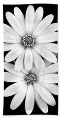 Two Flowers Beach Towel