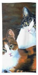 Beach Sheet featuring the painting Two Friends by Diane Daigle