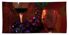 Two Friends Divided By Grapes Of Wrath Painting Beach Towel
