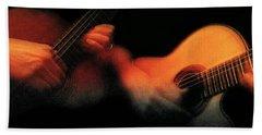 Two Guitars Live Cd  Beach Towel
