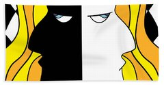 Two Heads Two Souls Beach Towel